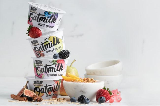 So Delicious Dairy Free Oatmilk Yogurt Alternatives, Danone