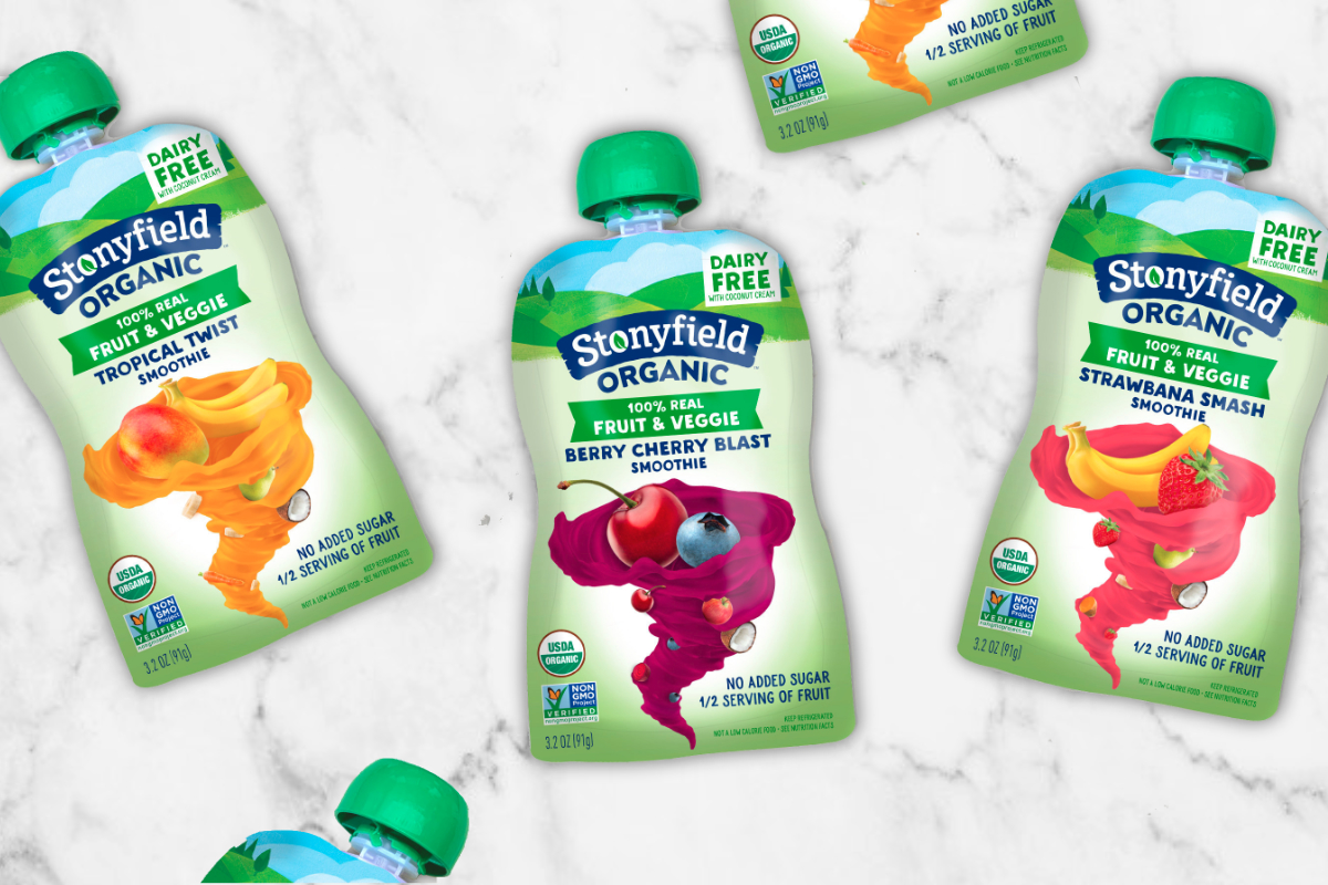 Stonyfield Organic Fruit & Veggie Smoothie Pouches