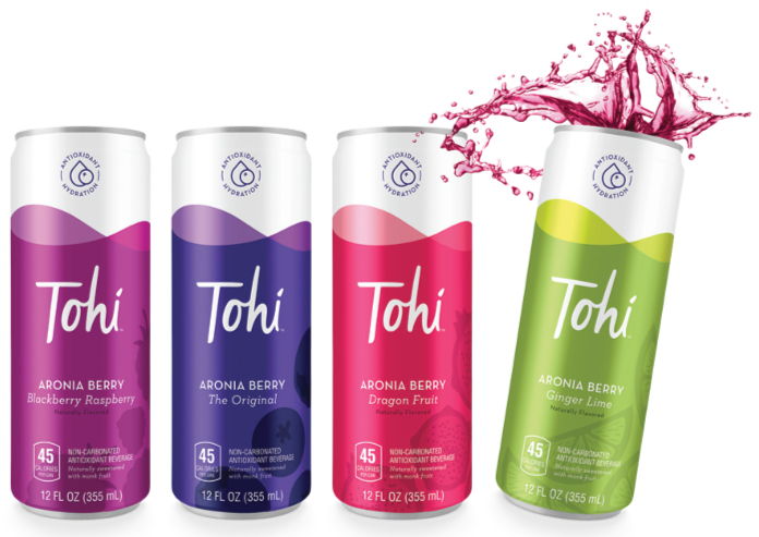 Tohi Ventures aronia berry sports drinks