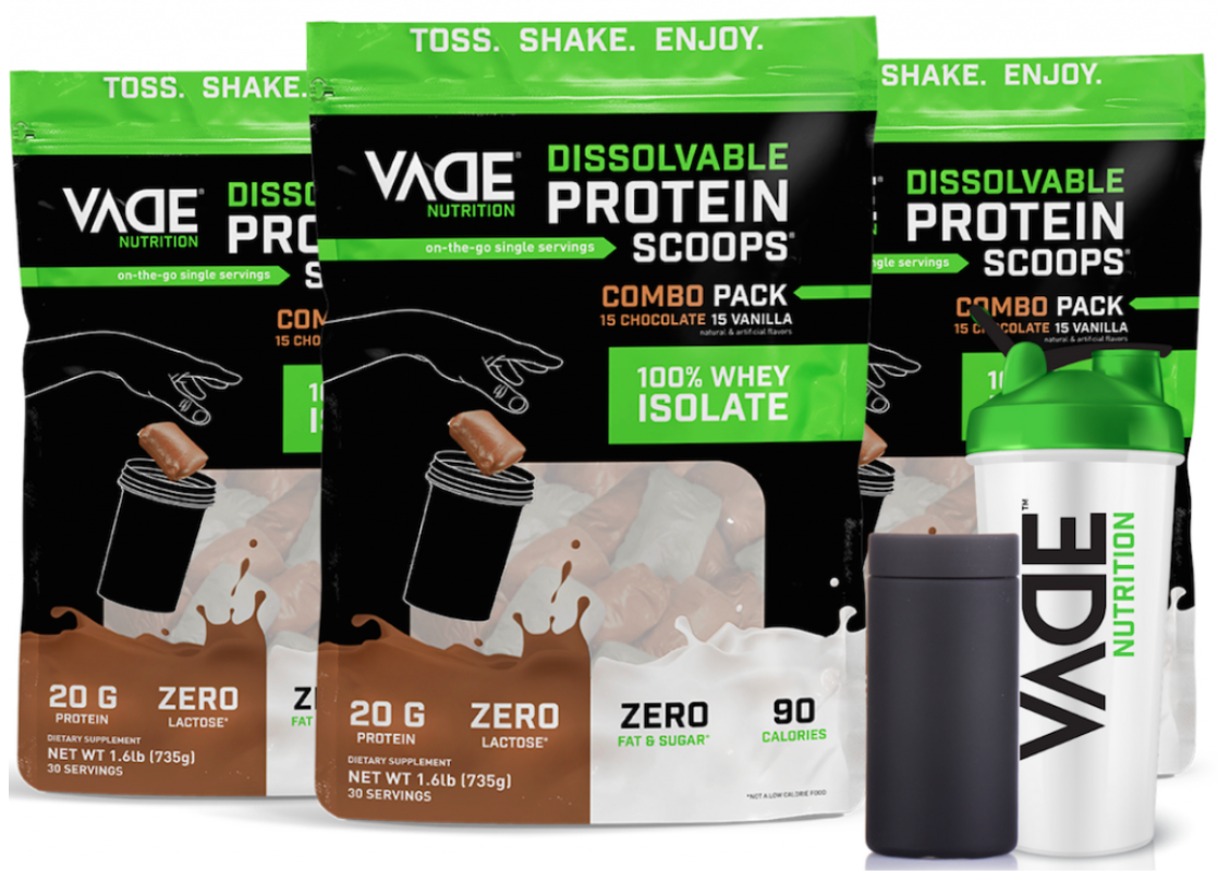 Vade Nutrition protein powder pods
