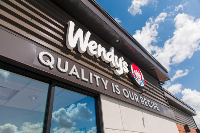 Exterior of Wendy's restaurant
