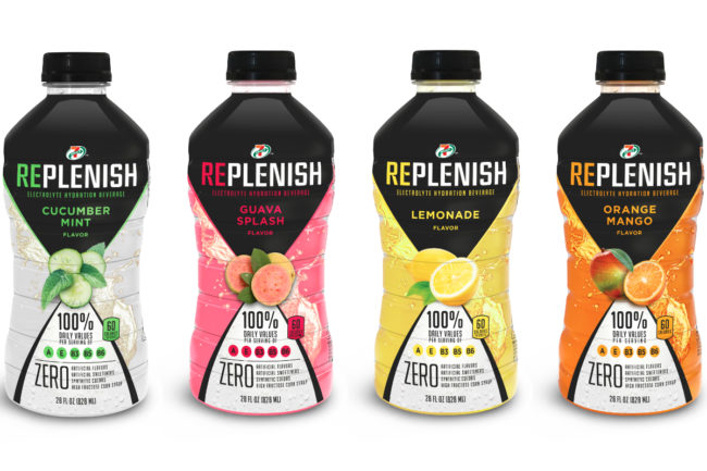 7-Eleven 7-Select Replenish sports drinks