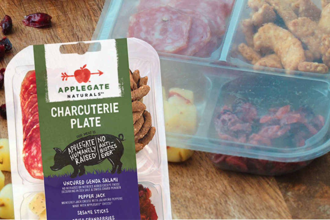Applegate Naturals charcuterie plate snack pack