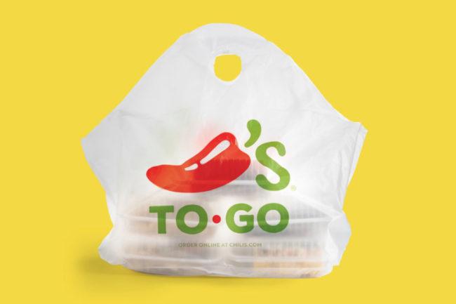 Chili's to-go bag