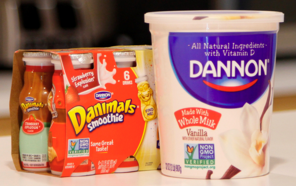 Non GMO Project verified Danone products