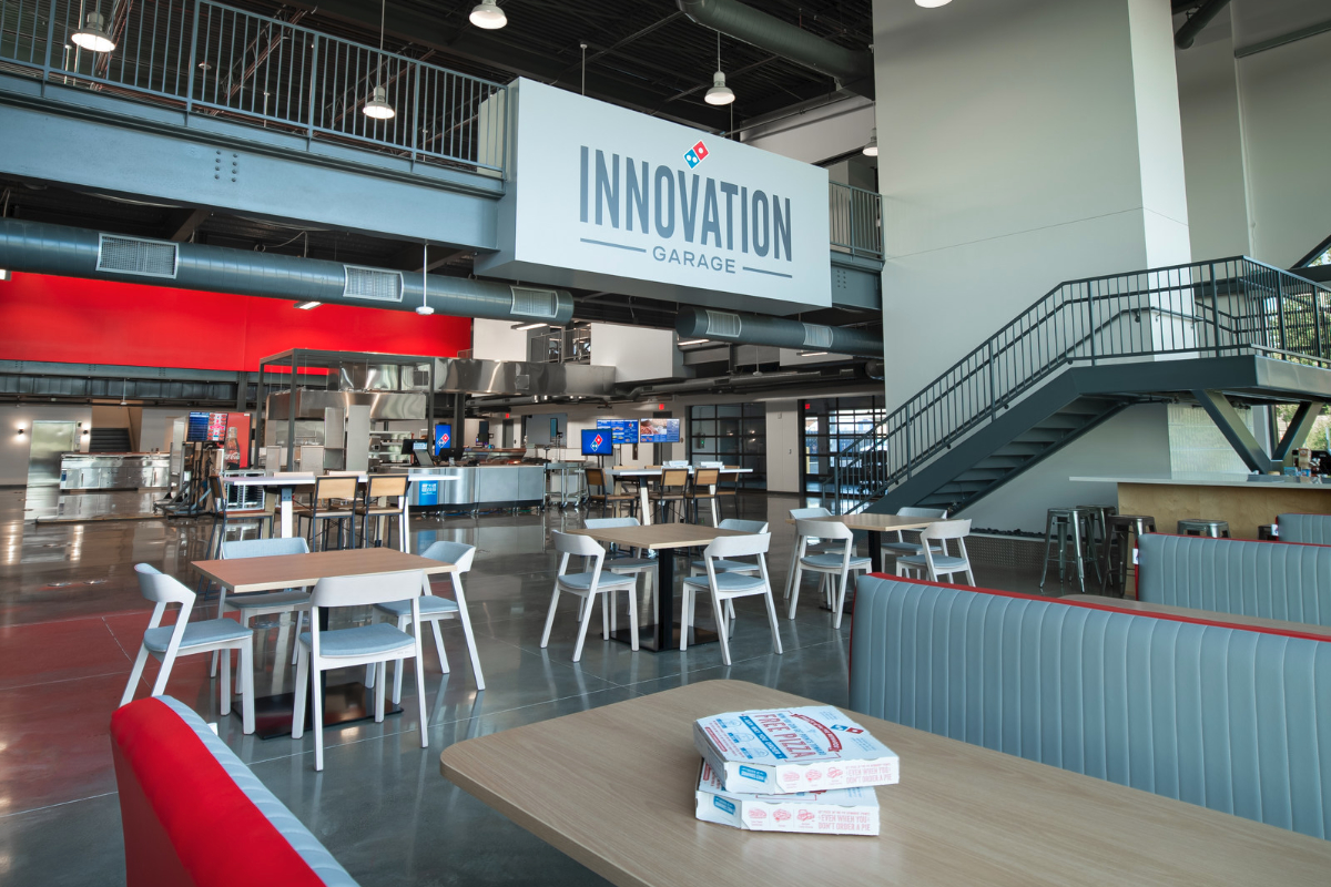 Domino's Innovation Garage interior