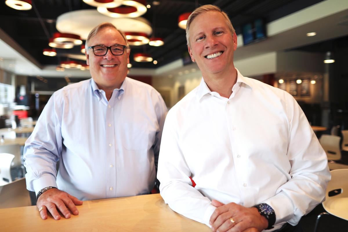 Greg Creed and David Gibbs, Yum! Brands with caption