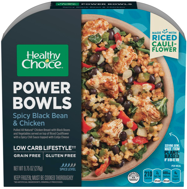 Healthy Choice Power Bowl with riced cauliflower, Conagra Brands