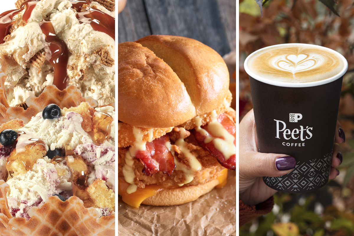 Honey menu items from Cold Stone, Ruby Tuesday, Peets Coffee
