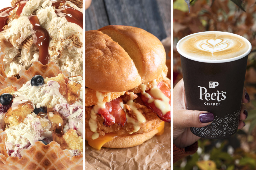 Honey menu items from Cold Stone, Ruby Tuesday, Peet's Coffee