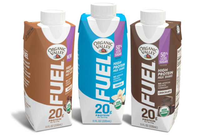 Organic Valley Fuel protein shakes