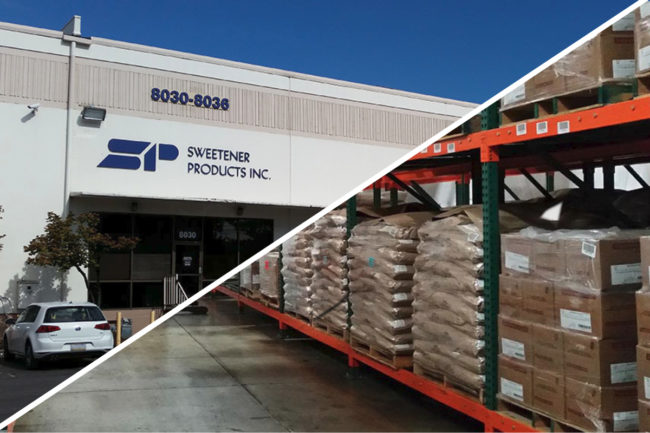 Sweetener Products Co. warehouse