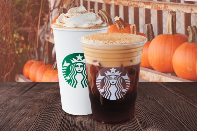 Starbucks Pumpkin Cream Cold Brew and PSL