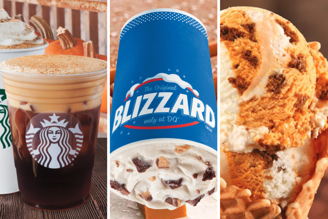 New fall menu items from Starbucks, Dairy Queen and Baskin-Robbins
