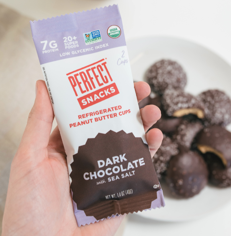 Perfect Snacks dark chocolate sea salt peanut butter cups