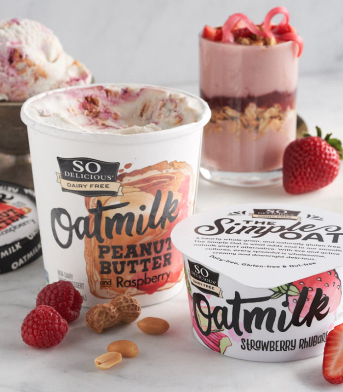 So Delicious Dairy Free oatmilk yogurt and frozen dessert
