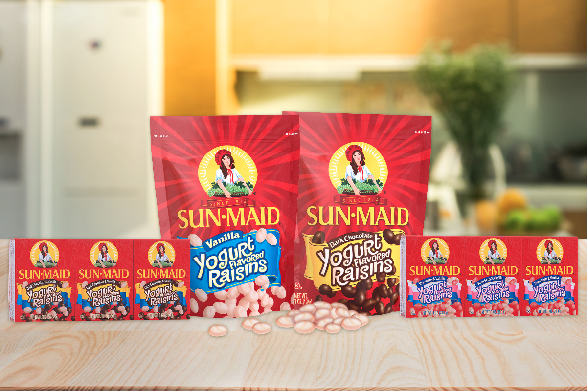 Sun-Maid reformulated yogurt covered raisins