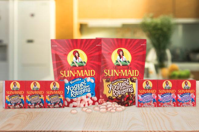 Sun-Maid reformulated yogurt covered raisins