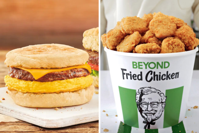 Beyond Meat products at Tim Hortons and KFC
