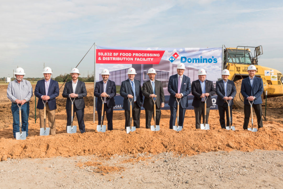 Domino's supply chain center in Texas groundbreaking