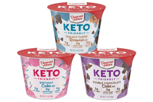 Duncan Hines keto-friendly cake cups