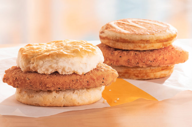 McDonald's Chicken McGriddles and McChicken Biscuits