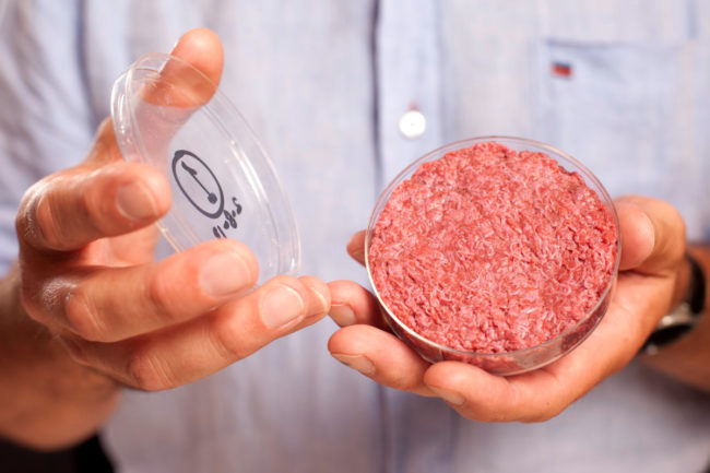 Mosa Meat cell cultured hamburger