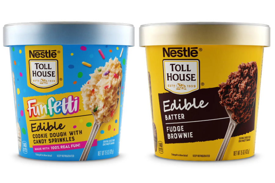 Nestle Toll House Funfetti and brownie batter edible cookie dough