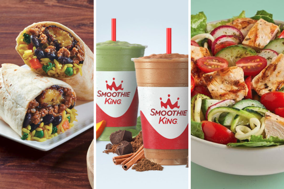 New healthier menu items from Pollo Tropical, Smoothie King and B.GOOD
