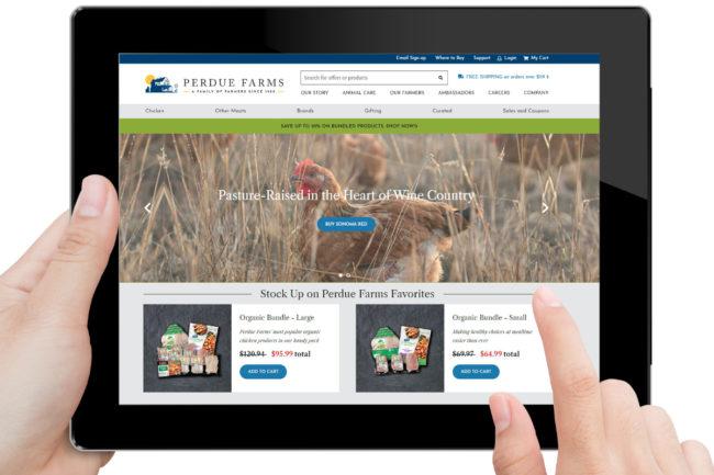 Perdue Farms new e-commerce site
