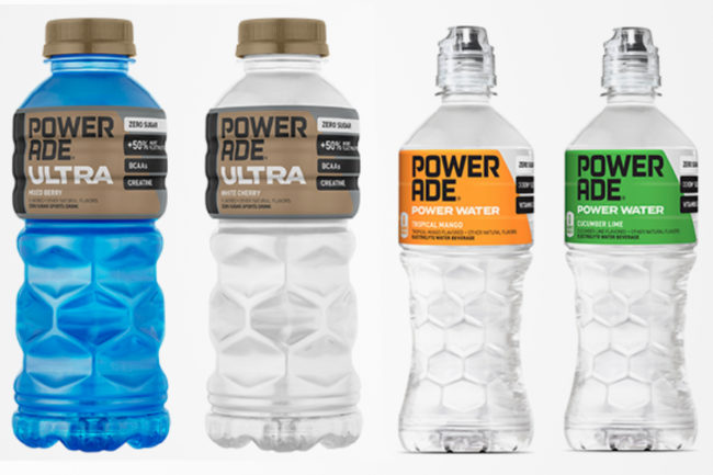 Powerade Ultra and Powerade Power Water