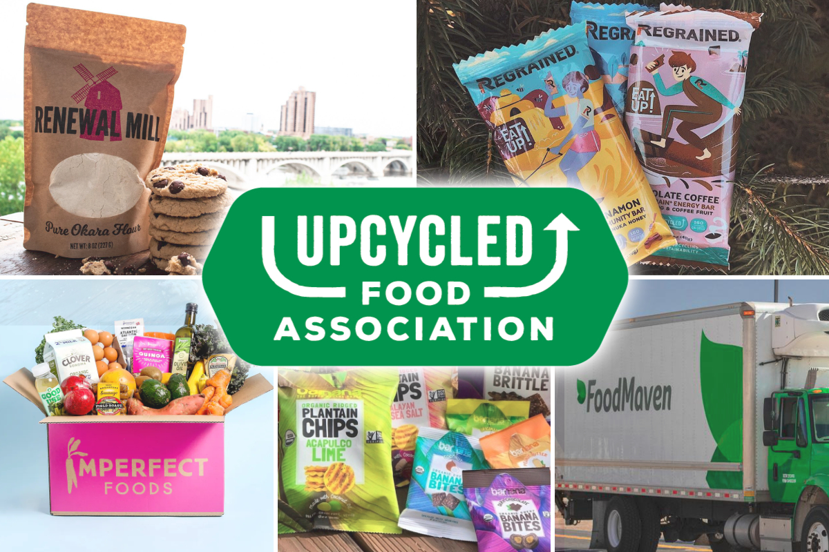 Upcycled Food Association logo and members