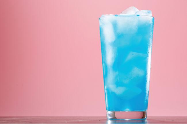 blue beverage