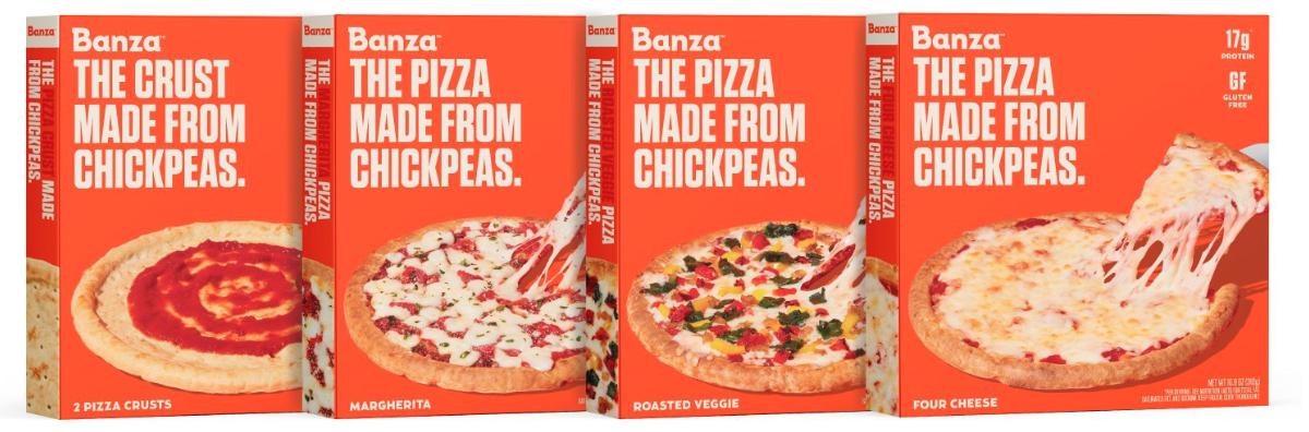 Gamme de pizzas Banza