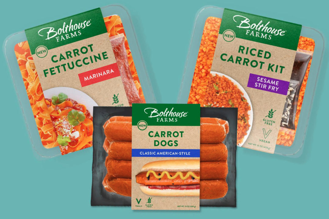 Bolthouse Farms Wunderoots Carrot Dogs, Carrot Fettucine and Riced Carrots
