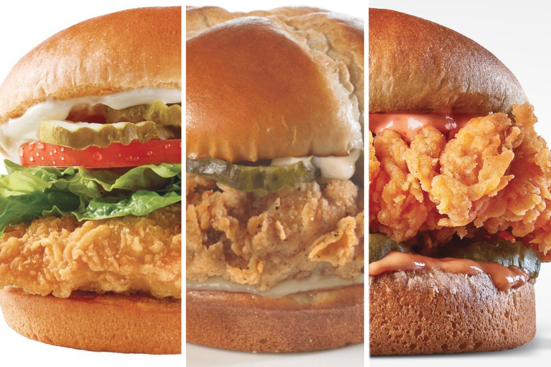 New chicken sandwiches from Wendy's, Church's Chicken and Zaxby's