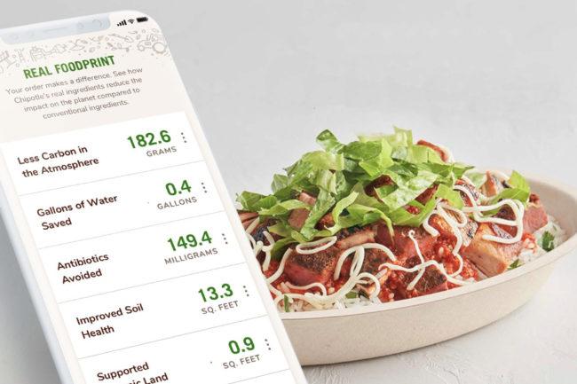 Chipotle Real Foodprint tracker