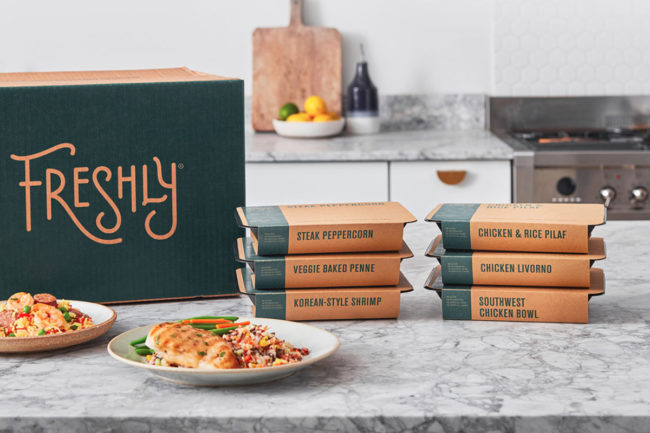 Freshly box and meals