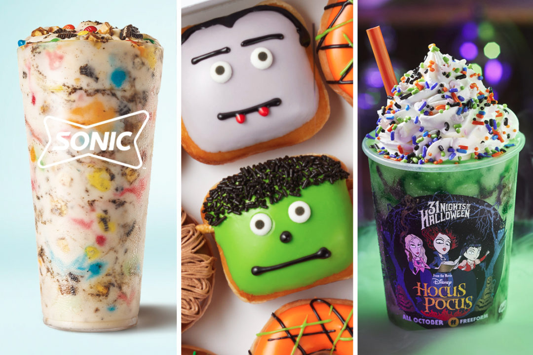Sonic Trick or Treat Blasts, Krispy Kreme Scary Sweet Monster Doughnuts and Carvel Hocus Pocus Shake