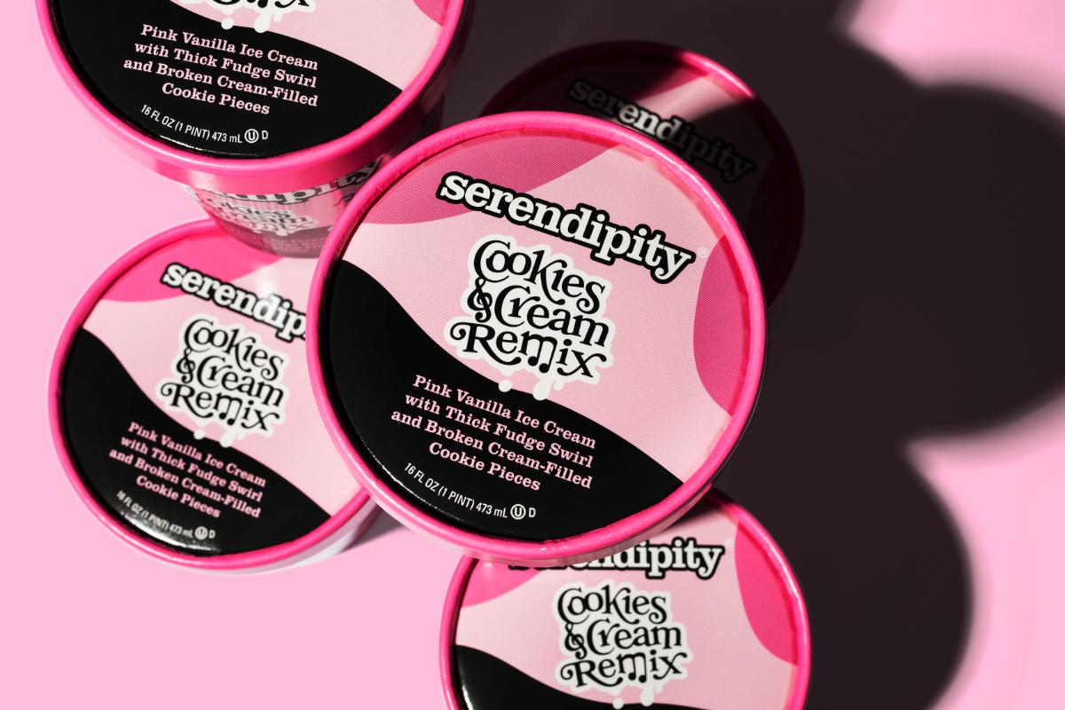 Serendipity Cookies and Cream Remix ice cream