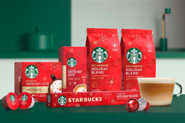 Nestle Starbucks Holiday Coffees and Favorites products