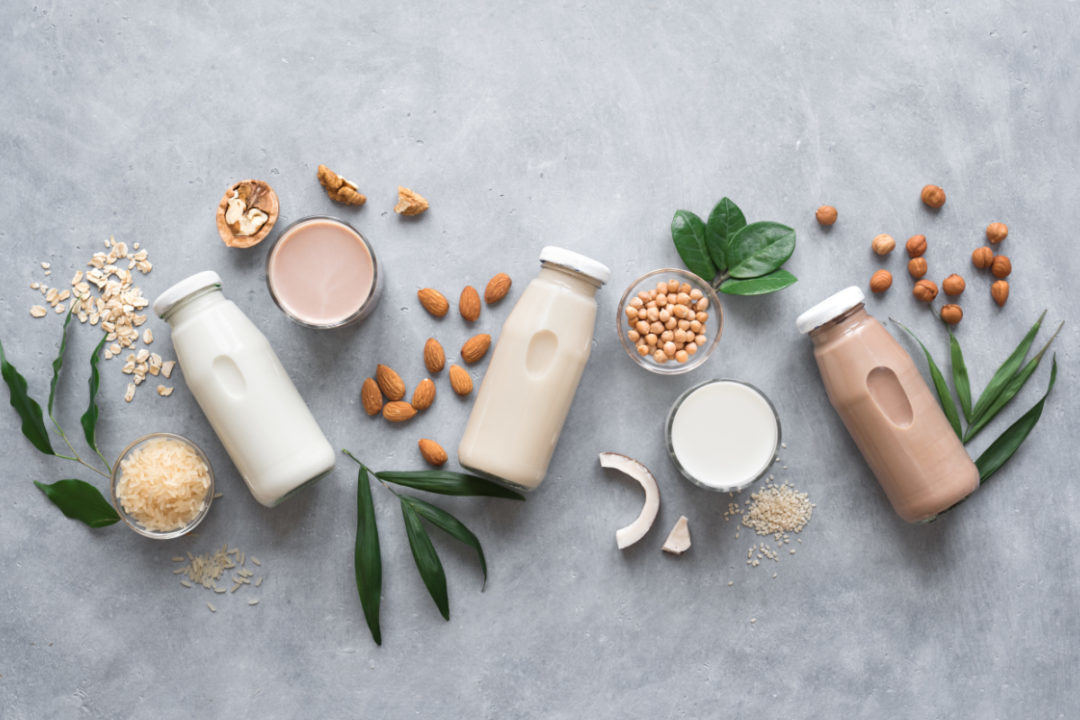 Various plant based milk