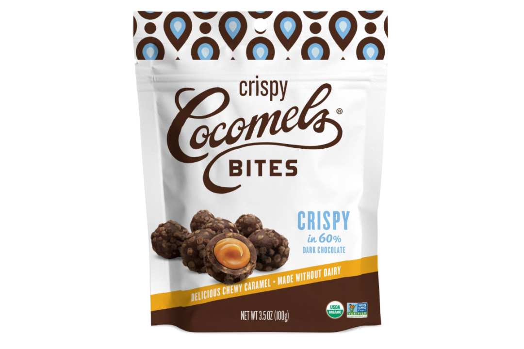 Cocomels' Organic Crispy Chocolate-Covered Bites.