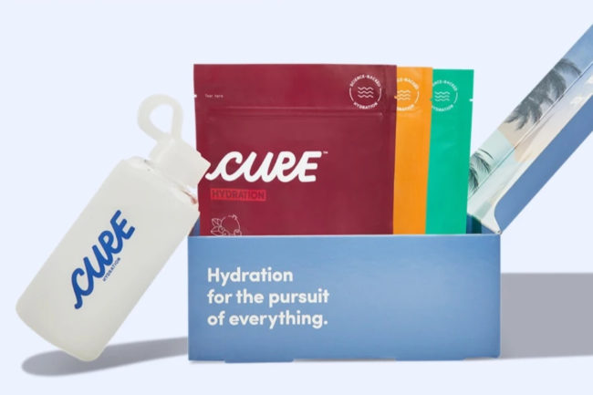 Cure Hydration beverage mixes