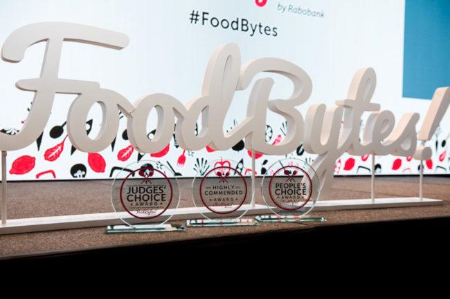 Rabobank's FoodBytes! sign