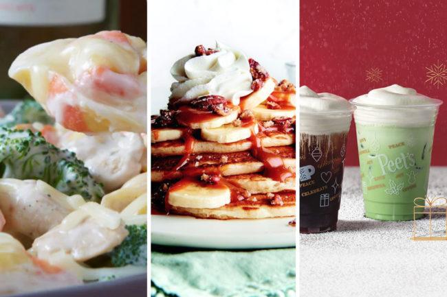 Holiday menu items from TGI Fridays, Corner Bakery Cafe, Peet's Coffee