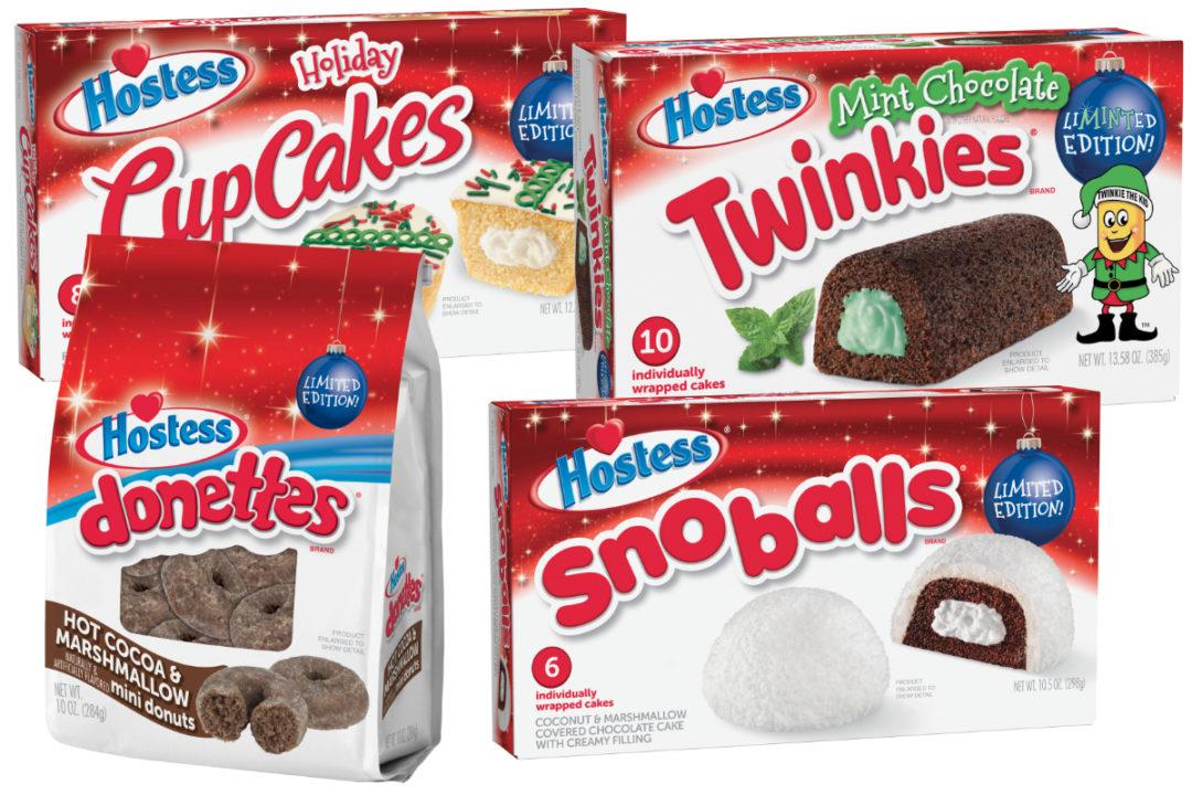 Hostess holiday snack cakes