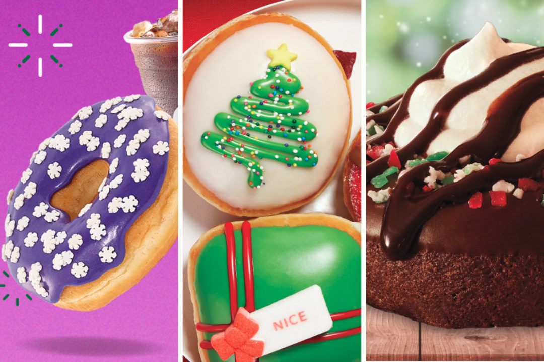 New holiday donuts from Dunkin', Krispy Kreme and Tim Hortons