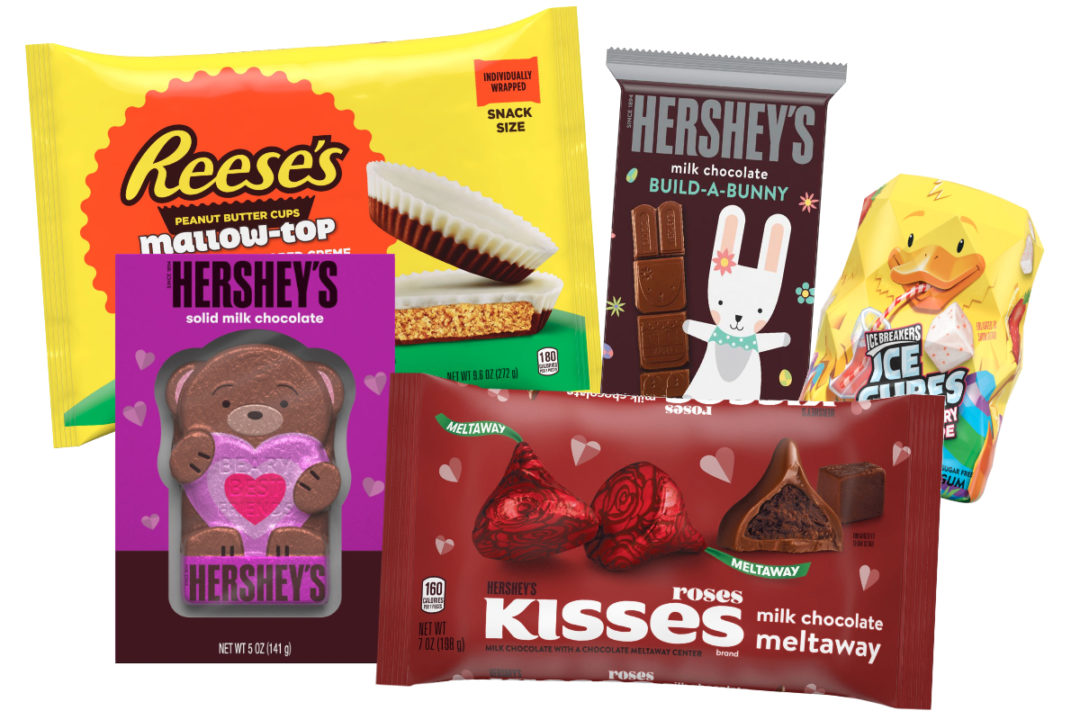 Hershey new 2021 Valentine's Day and Easter innovations