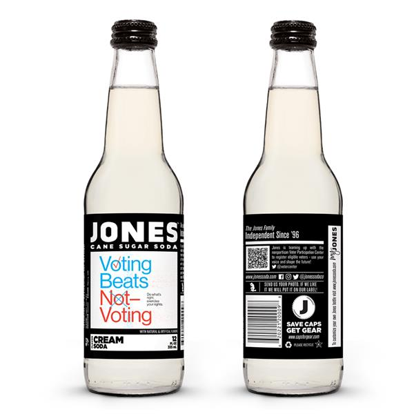 Bouteilles Jones Soda's Vote 2020